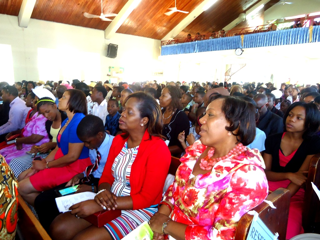 "Acting CEO of the CDA Mrs. Rosalee Gage-Grey and Acting Regional Director for the Southern Region Francine Rhoomes and other members of the CDA Team, attend the National Foster Care Week Church Service in Mandeville, Manchester on Sunday (February 9). Foster Care Week is being observed under the theme: ""Strengthening Families and Communities through Foster Care."""