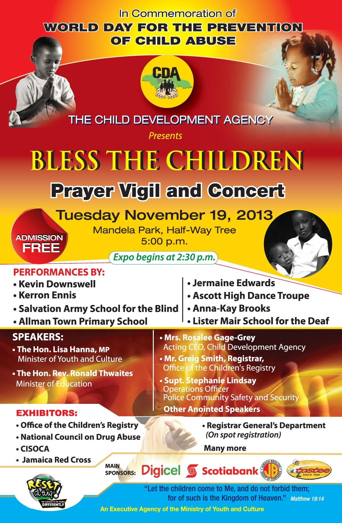 Bless the Children 2013 Flier